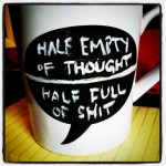 Is the #chalkmug half empty or half full?