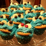 Cookie Monster Cupcake Mob