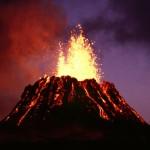 volcano errupting