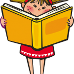 Girl Book School Reading Learning Happy