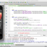 App running on emulator in Android Studio