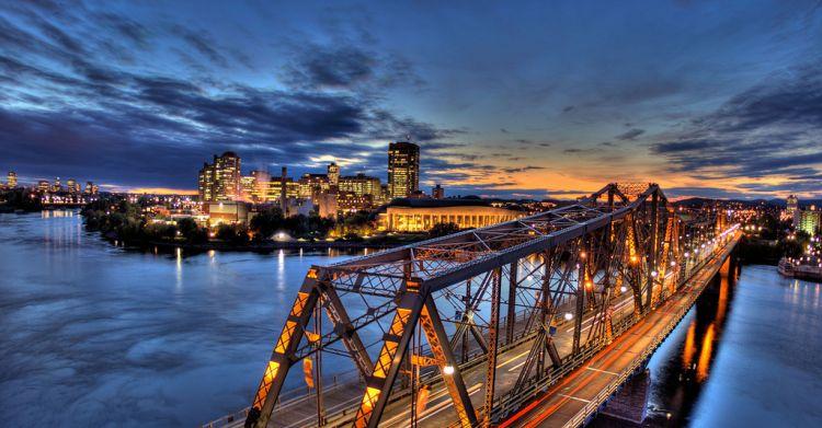 Alexandria Bridge Ottawa Panorama HDR