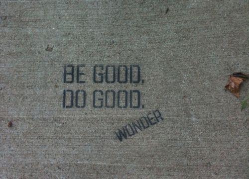 be good do good wonder