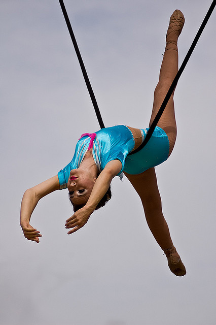 Aurelia on the Cloud Swing