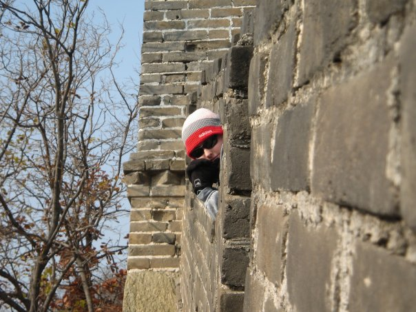 cate at the great wall of china